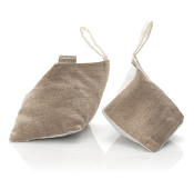 Shoe Inserts - Cedar with Ivory & Natural Linen