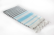 St. Tropez Towel - Black/Gray/Blue